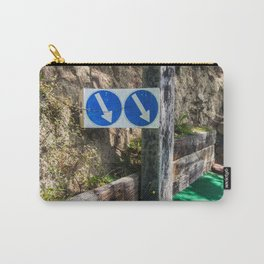 Arrows Pointing Down Carry-All Pouch