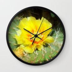 Prickly Yellow Beauty Wall Clock