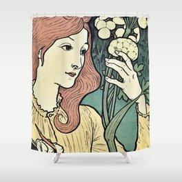 Salon des Cent 1894 Eugene Grasset Shower Curtain