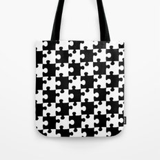 Checkerboard Puzzle Pieces Tote Bag