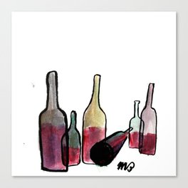 Wine Bottles 3 Canvas Print