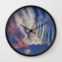 Flying formation Wall Clock