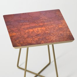 Percolated Sunset in Warm Tones Side Table