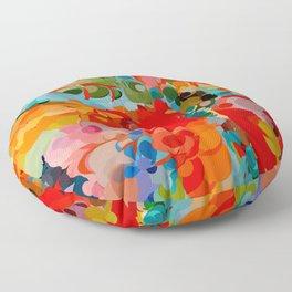 color bubble storm Floor Pillow