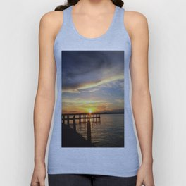 Sitting on the Dock Unisex Tank Top