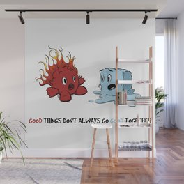 Fire & Ice by dana alfonso Wall Mural
