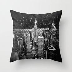 Starry Night in New York Throw Pillow