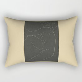 1937 Female nude, seated by Eric Gill. Original from The Museum of New Zealand Te Papa Tongarew, ero Rectangular Pillow