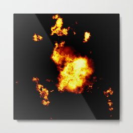 Cinematic Explosion Art Metal Print