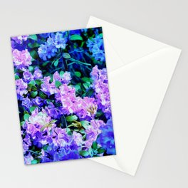 Flowers Flowers Blue Flowers Stationery Cards