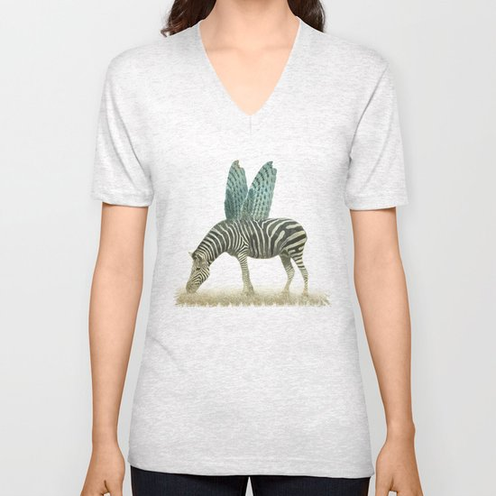 on the wings Unisex V-Neck