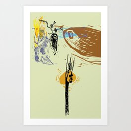 Never bring paper plane to a conclusion Art Print