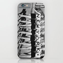 New York girls in the chorus line - vintage mid century photo in B&W iPhone Case