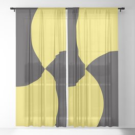 Swirl - Color Of The Year 2021 - Pantone Illuminating Sheer Curtain