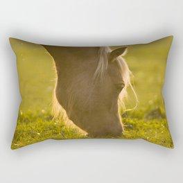 Golden specs of light Rectangular Pillow