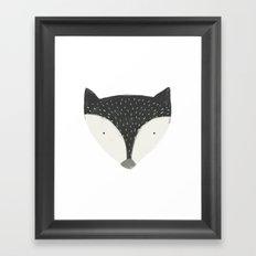 fox in black Framed Art Print