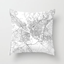Minimal City Maps - Map Of Columbia, South Carolina, United States Throw Pillow