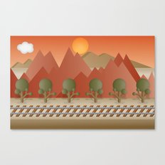 Mountain Railway Canvas Print
