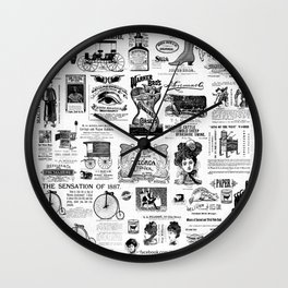Vintage Victorian Ads Wall Clock