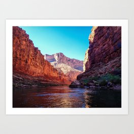 Floating the Colorado *resized* Art Print