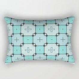 Turquoise Geometrical Pattern Rectangular Pillow