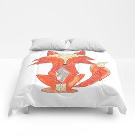 Orange Zen Fox Comforters
