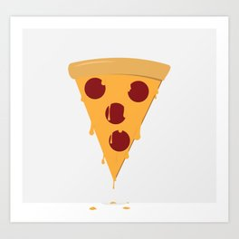 Cheesy Pizza Art Print