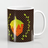 strawberry Mugs featuring Strawberry by Strawberringo