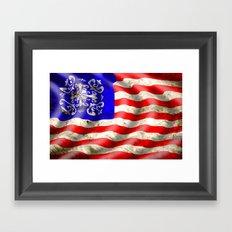 A wavy American flag Framed Art Print