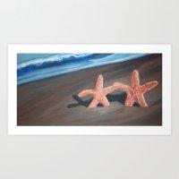 starfish Art Prints featuring Starfish by Lark Nouveau Studio