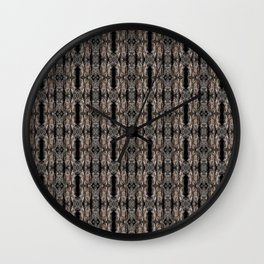 Pine Bark Pattern by Debra Cortese Design Wall Clock