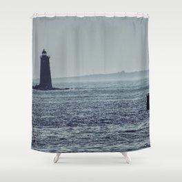 Whaleback Light Shower Curtain