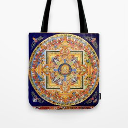 Buddhist Mandala 49 Green Tara Tote Bag