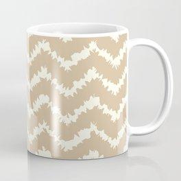 Ragged Chevron - Taupe/Cream Coffee Mug