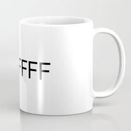 #FFFFFF White Coffee Mug