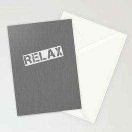 Grey Relax Stationery Cards