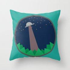 Alien's UFO Throw Pillow