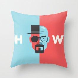 Walter White + Heisenberg Throw Pillow