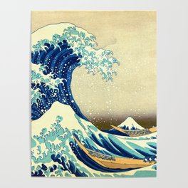 The Great Wave Off Kanagawa Katsushika Hokusai Poster