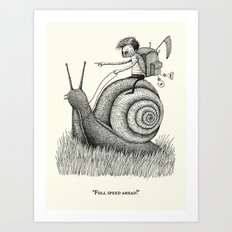 'Full Speed Ahead!' Art Print