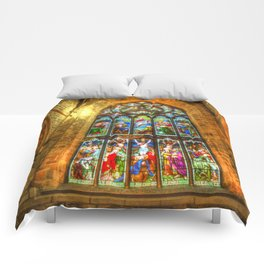 Cathedral Stained Glass Window Comforters