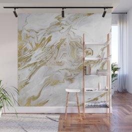 Liquid gold marble II Wall Mural