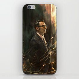The Abyss Gazes Back iPhone Skin