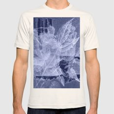 blue fozen leaves Natural SMALL Mens Fitted Tee