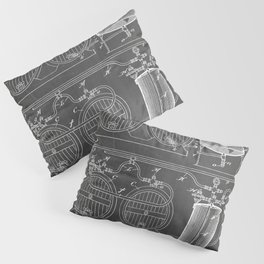Brewery Patent - Beer Art - Black Chalkboard Pillow Sham