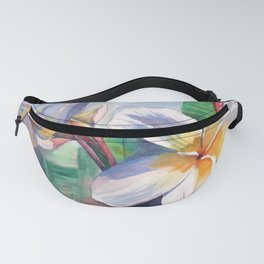 Tropical Plumeria Flowers Fanny Pack