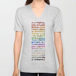 Emoji icons by colors Unisex V-Neck