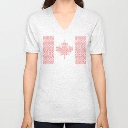 digital Flag (Canada) Unisex V-Neck