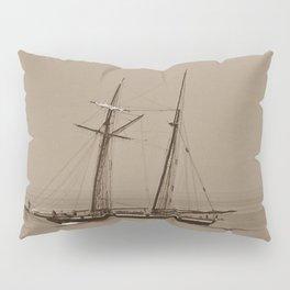 Tall ship and the Fog Pillow Sham