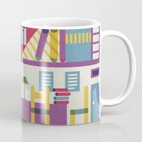library Mugs featuring Summertime's library by sansanfab
